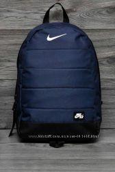 Синий рюкзак с кожаным дном nike air найк спортивный городской школьный