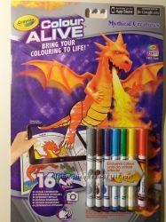 Раскраска с маркерами Crayola Color Alive. Англия. Оригинальная и