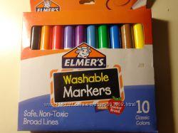 Смываемые маркеры Elmers для малышей, Америка