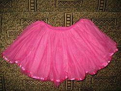 юбка фатин розовая