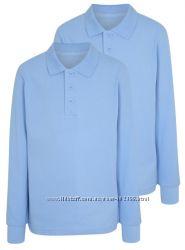 Рубашка-поло с длинным рукавом для мальчика, 11-16 лет, George