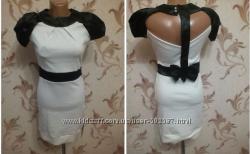 Шикарное платье с открытой спинкой, бантом