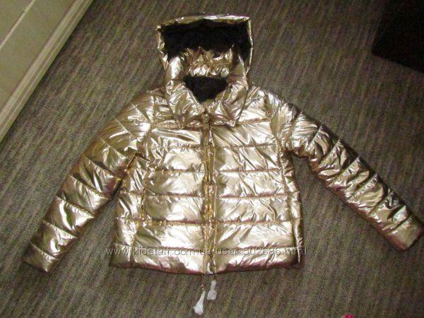 Золотая куртка бомбер демисезон M, L, XL