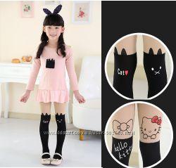 Детские колготки-чулки Кошки, Kitty, Маус, кролики на рост 115-135