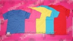 Детские футболки на мальчиков и девочек 2-8 лет, однотонные и с рисунком