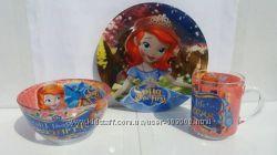 Наборы детской посуды Любимые мультфильмы