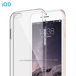 Прозрачный силиконовый чехол бампер iQD для iPhone 7