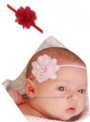 Детская повязка на голову, цветок, хлопок, бантик