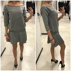 Скидка. Серое платье свитшот Mohito. Разные размеры.