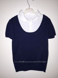 Блузка-обманка с коротким рукавом 6 лет