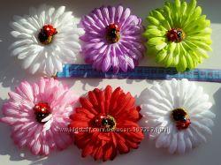 Цветы-заколки, резинки, повязки