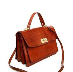 ASOS. Деловая кожаная сумка-порфель.