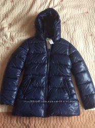 Куртка Бенеттон синяя на девочку ростом 150-160 см
