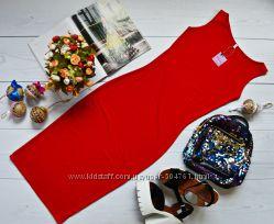 Летнее легкое платье-майка из мягкой ткани