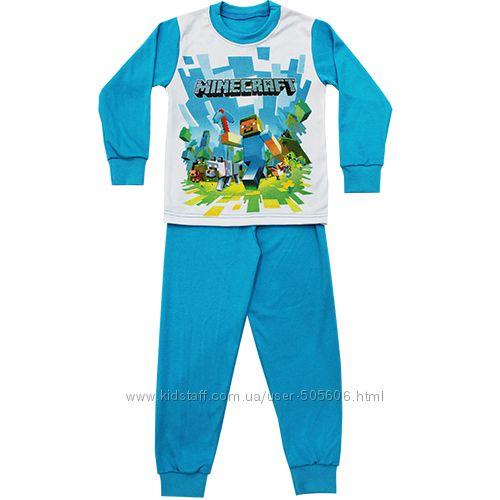 Майнкрафт, пижамы, джемперы, толстовки, хлопок, до 146 роста