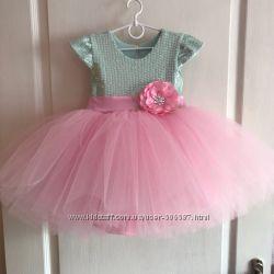Платье на девочку на годик Нарядное платье