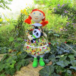 Кукла текстильная рыжая осень