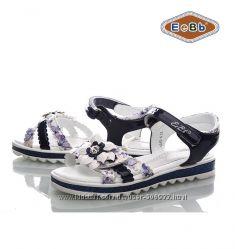 Босоножки, сандалии нарядные для девочки р. 31-36 ТМ EeBb 1045-4 dblue-whit