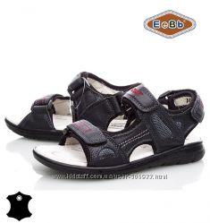 Босоножки, сандалии кожаные для мальчика р. 32-37 ТM EeBb A9057 black