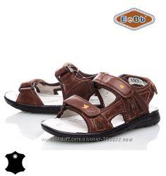 Босоножки, сандалии кожаные для мальчика р. 32-37 ТM EeBb A9058 brown