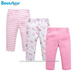 Качественные детские штаники на резинке девочке 6-9мес, 100 хлопок