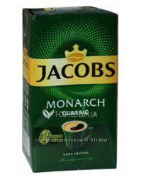 Кофе Якобс Jacobs зерновой растворимый молотый Миликано Кренинг Монарх