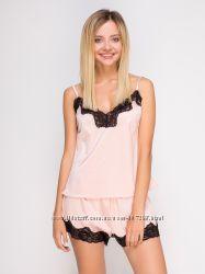 Домашняя одежда Serenade качество пижамы майка шорты шелк атлас сатин