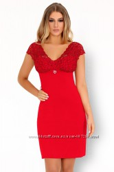 Crossina Livia Corsetti красная вискозная сорочка ночнушка пеньюар