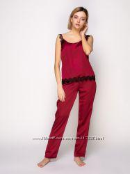 Serenade шелковые пижамы комплекты с кружевом