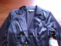 нарядный и повседневный черный пиджак на худенькую девушку 42р.