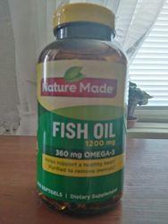рыбий жир Omega 3, 1200mg Nature Made из Америки