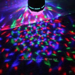 Лампа в стиле диско вращающаяся LED 6 V Большая