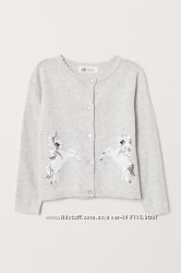 Кардиган для дівчинки з єдинорожками H&M розмір 92