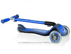 Новый самокат GLOBBER со светом синий-Globber Elite Lights Navy Blue