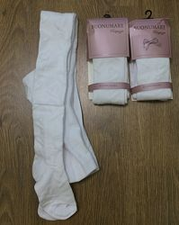 Белые ажурные колготы buonumare р-р 5 и 9