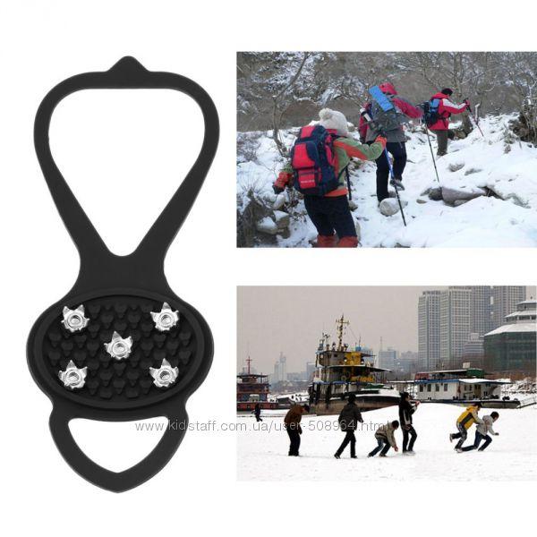 Противоскользящие шипы снегоступы накладки на обувь ледоходы Ice Grip