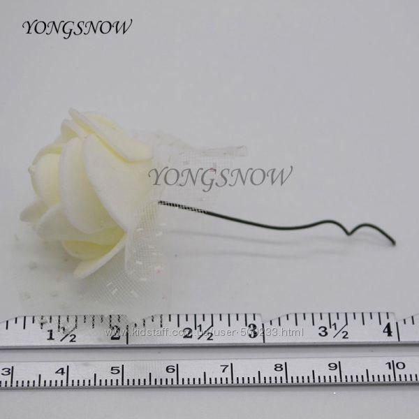 3. 5 СМ Диаметр  Розы Пены Мини-Искусственные Шелковые Цветы