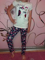 футболка для девочки Джимбори размер6  лосинки ошкош размер 6