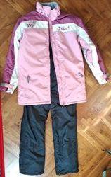 Комбинированный  лыжный костюм для девочки