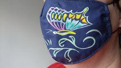 маска защитная многоразовая рисунок бабочка