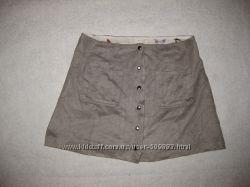 8-11 лет, очень клёвая юбка Zara велюровая на кнопочках