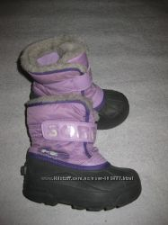 17, 5 см стелька, канадские сноубутсы Sorel, зимние сапоги на мороз