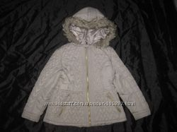7-8 лет, тёплая деми куртка девочке