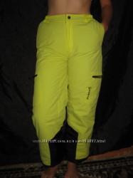 152-158 рост, зимние лыжные термо штаны, ярко-салатовые, Cubus