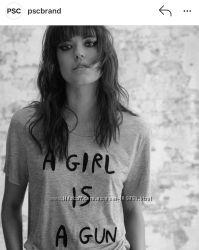 Футболка PSC brand Girl is a gun