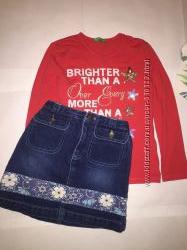Джинсовая юбка на девочку 6-7 лет