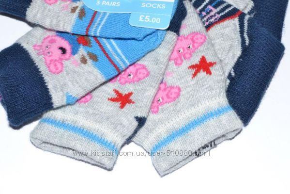 Носки Mothercare new born или от 0 до 1 месяца Свинка Пеппа