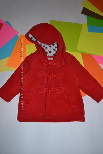 Флисовое пальто для девочки 9-12 месяцев от Некст