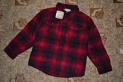 Теплая рубашка -куртка на мальчика 5-6 лет от Crazy8 с мехом