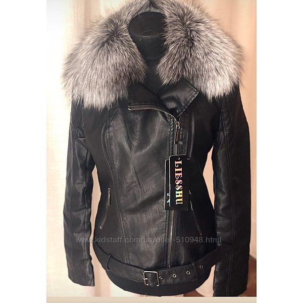 Стильные куртки с натуральным мехом, S-XL